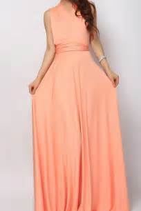 salmon long infinity dress bridesmaid dress lg 40 73 80 infinity dress convertible
