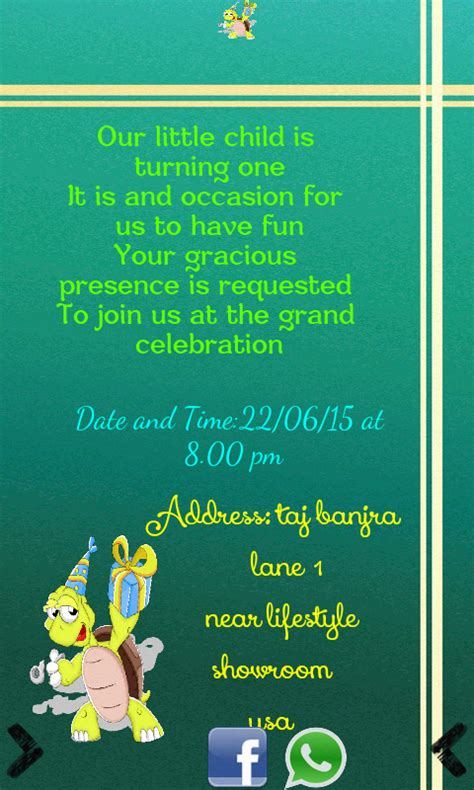 Birthday Invitation Card Maker Android Apps On Google Play And Friends Invitation Templates