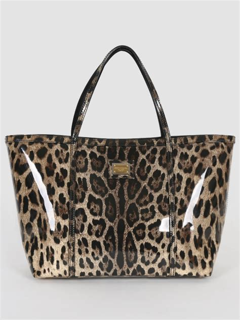 Dolce And Gabbana Patent Tote Bag by Dolce Gabbana Leopard Print Patent Leather Tote