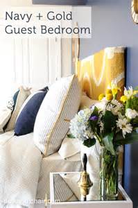 Yellow Bedroom Decorating Ideas navy and gold guest bedroom ideas guest bedroom colors
