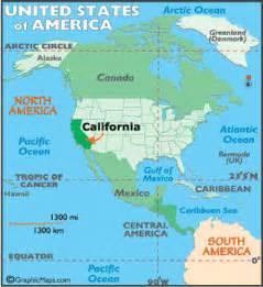 california map geography of california map of