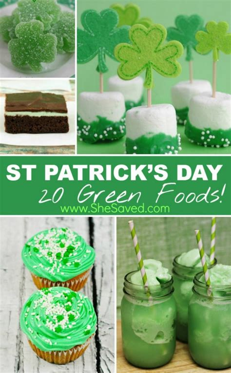 st patricks day green food ideas shesaved