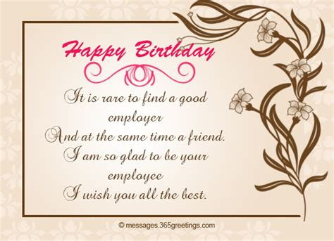 Employee Birthday Card Messages