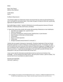 mortgage payment hardship letter