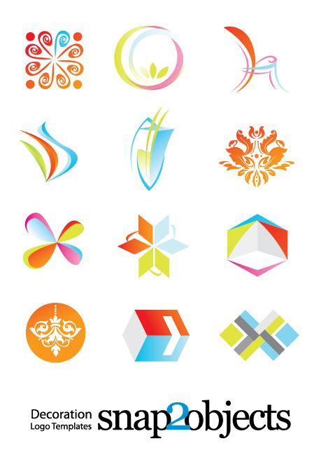Logo Decoration by Free Decoration Logo Template Vector Icons