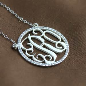 sterling silver monogram jewelry birthstone circle monogram necklace sterling silver