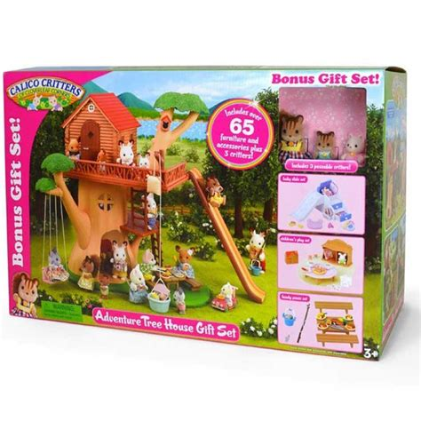 calico critters tree house calico critters adventure tree house deluxe gift set educational toys planet
