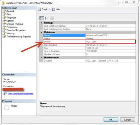 change nvram database file changing db ownership to sa account basit s sql server tips