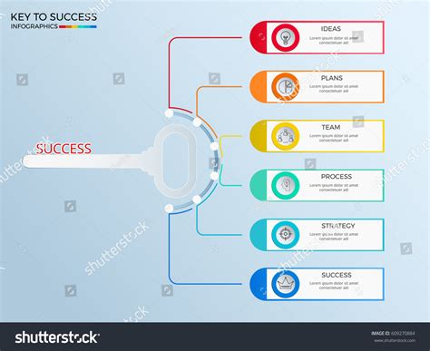 graphic design key elements key business concept infographics template icons stock