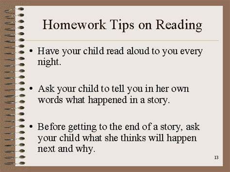 Parent Tips On Homework by Homework Tips On Reading Part 1 A S Guide To