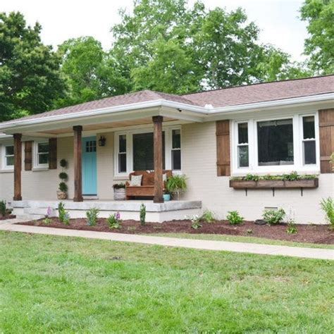 brick house exterior makeover best exterior color 60s ranch house google search hayley flipping pinterest exterior