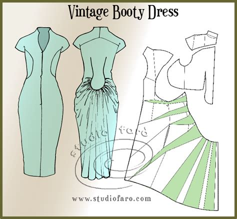 dress design draping and flat pattern making pdf download well suited pattern puzzle vintage booty dress