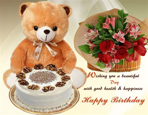 Birthday Wishes For Health And Happiness Happy Birthday Greeting Wishing A Beautiful Day With