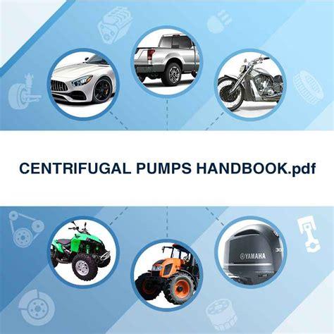 Centrifugal Handbook centrifugal pumps handbook pdf manuals technical