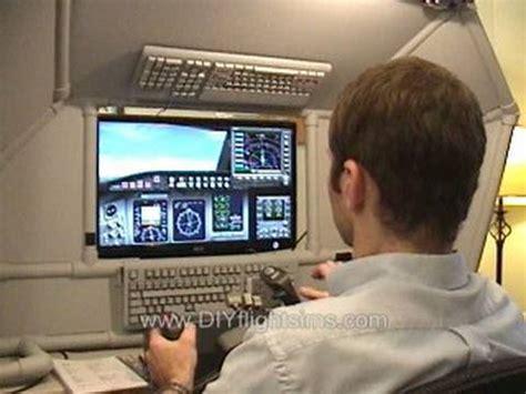 diy home flight simulator cockpit enclosure youtube