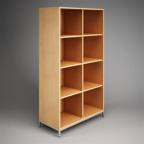 office storage cubby shelf unit 09 cgaxis 3d models