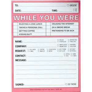 While You Were Out While You Were Out Notepad Calendars Com