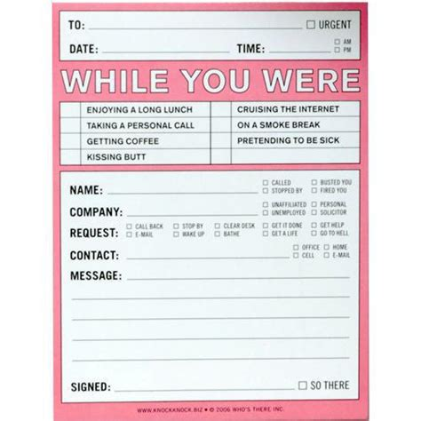 while you were out template while you were out notepad calendars