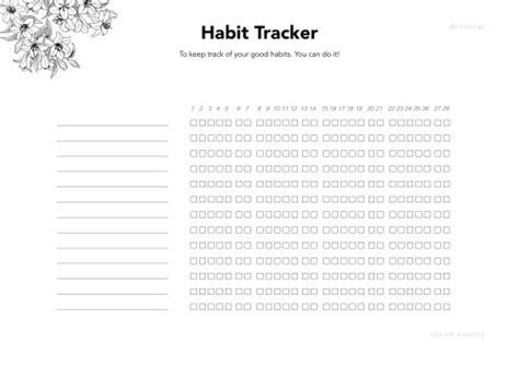 Habit Tracker Printable Tumblr | habit tracker printable tumblr