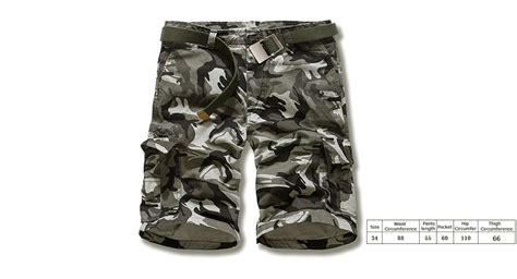 Multi Pocket Casual Sport Cargo Katun Grey Cln 965 21 30 aowofs s casual multi pocket camouflage cargo shorts size 34 authentic at