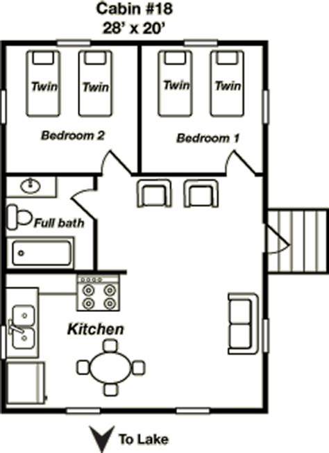 cabin layout cabin 18 at mcardle s resort on lake winnie