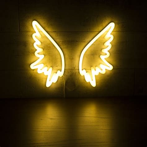 neon wall light signs white wings neon wall light retro neon sign light