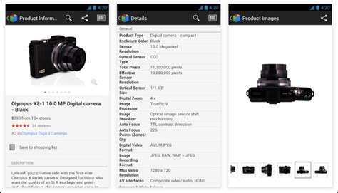product details google shopper app offers new refinement options and product details