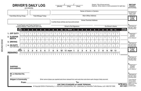 driver log book template truck driver log book templates images