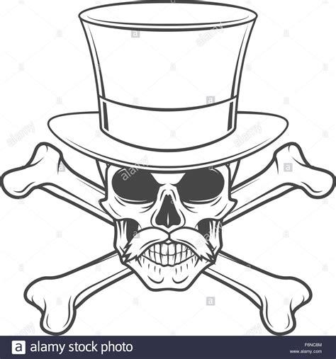 Tshirt Dandi Logo Nc outlaw skull with mustache high hat and crossbones