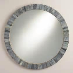 Round Mirror Gray Round Bone Mirror World Market
