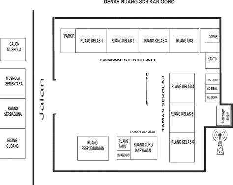 Denah Ruang Kelas Sekolah Dasar | sekolah dasar negeri kanigoro denah ruang sdn kanigoro