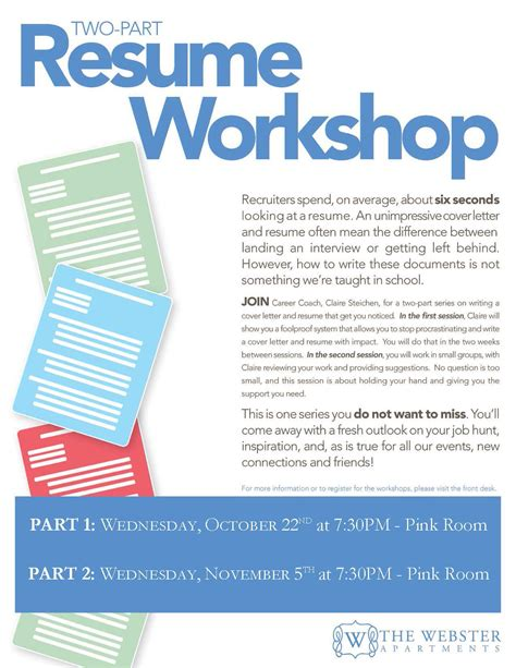 Resume Workshop by Enchanting Resume Workshops Inspiration Universal