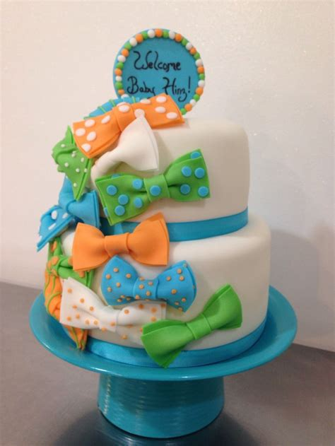 Bow Tie Baby Shower Cake by Bow Tie Baby Boy Shower Cake 2 Boys