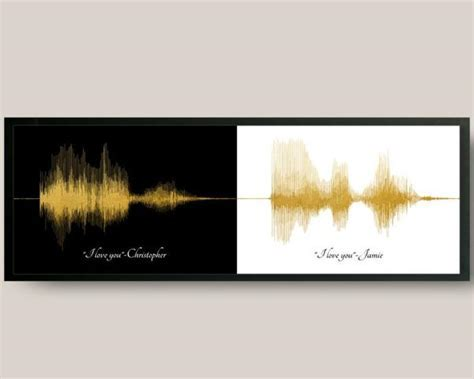 First Anniversary Paper Voiceprint Gift for Him, for Her