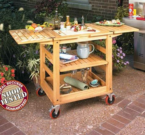 patio serving cart woodsmith plans patio