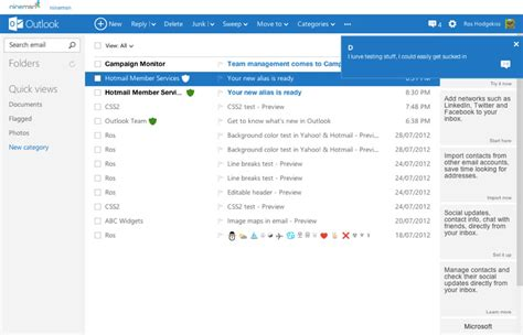 hotmail email template all about the new outlook email client caign monitor
