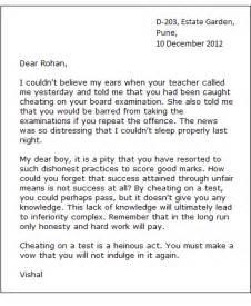 Essay Informal Letter Format by Informal Letter Sle For Friends