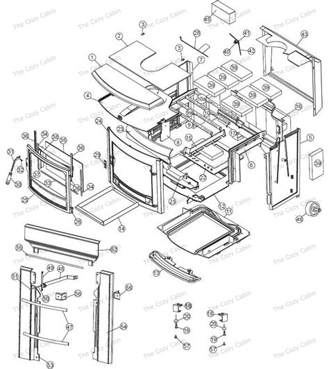 Vermont Castings Fireplace Parts by Seville Inserts 1600 The Cozy Cabin Stove Fireplace