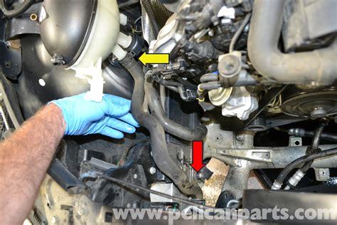 mercedes benz  coolant hose replacement      pelican parts diy