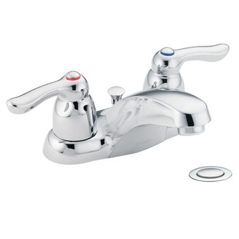 Moen Adler Faucet by Adler Two Handle Centerset Low Arc Lead Compliant Bathroom