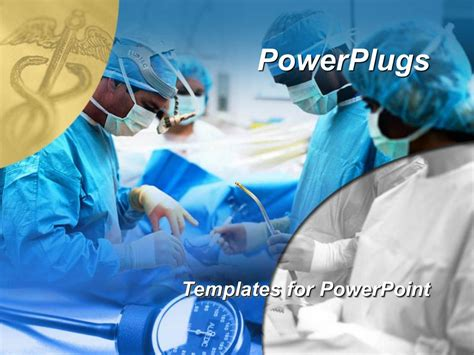 templates powerpoint surgery powerpoint template medical surgical team performing
