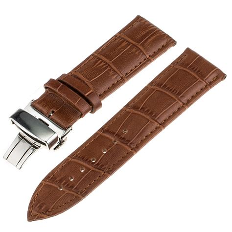 Expedition 6318 Rosegold Brown Leather 1 î î genuine leather band butterfly â buckle buckle for ã á ã timex timex weekender