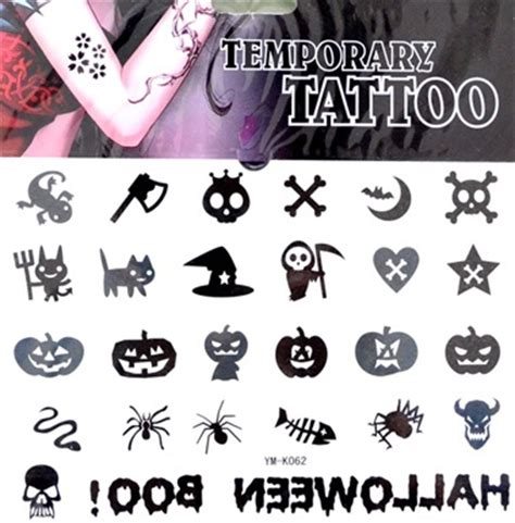 small halloween tattoos images designs