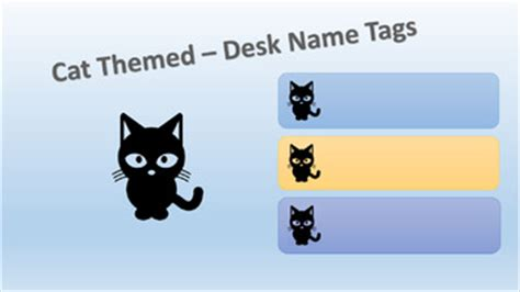 theme names for kittens black cat themed name tags by resource rescue