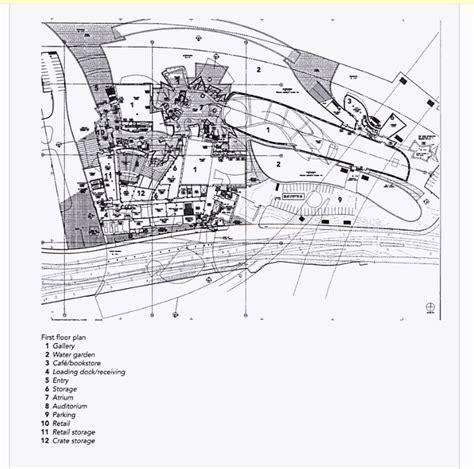 guggenheim museum bilbao floor plan site plan of guggenheim museum bilbao spain frank gehry