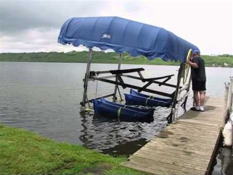 boat lift tubes boat lift float with liftbags youtube