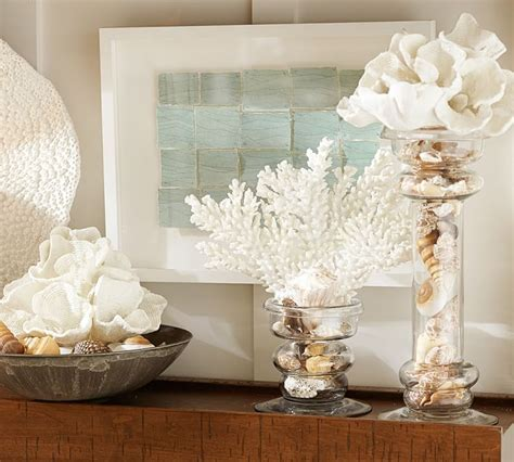 pottery barn inspired decor make faux coral inspired by pottery barn setting for four