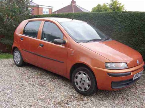 fiat punto 2002 fiat 2002 punto 1 2 active 5 door gold orange car for sale