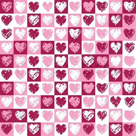 heart pattern pink a square background with hearts pattern in pink and vinous