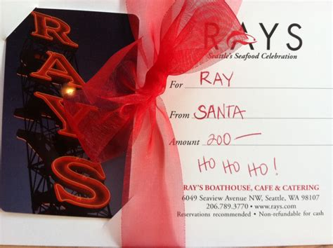 Rays Gift Cards - give a gift get a gift ray s seattle restaurant